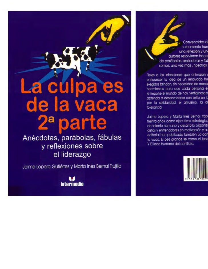libro la culpa es de la vaca: