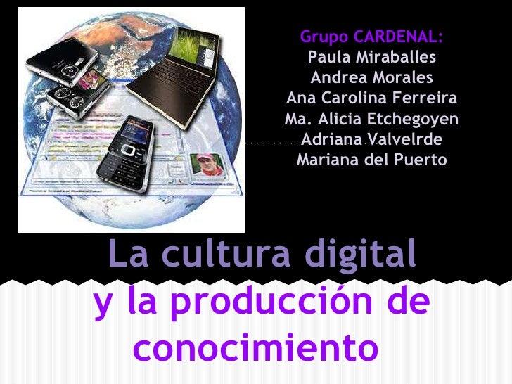 Grupo CARDENAL:            Paula Miraballes             Andrea Morales          Ana Carolina Ferreira          Ma. Alicia ...
