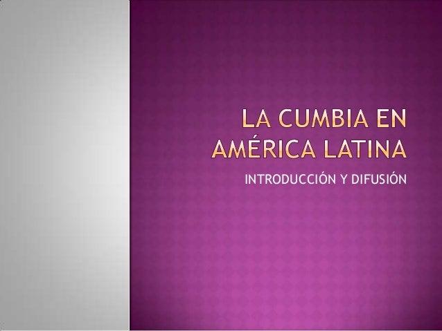 La cumbia en américa latina. alejandro osvaldo patrizio