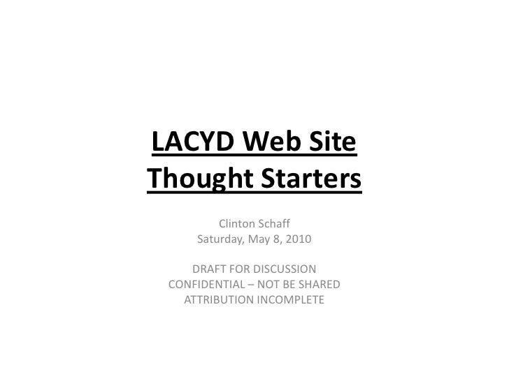 Lacyd web site 05 08-2010