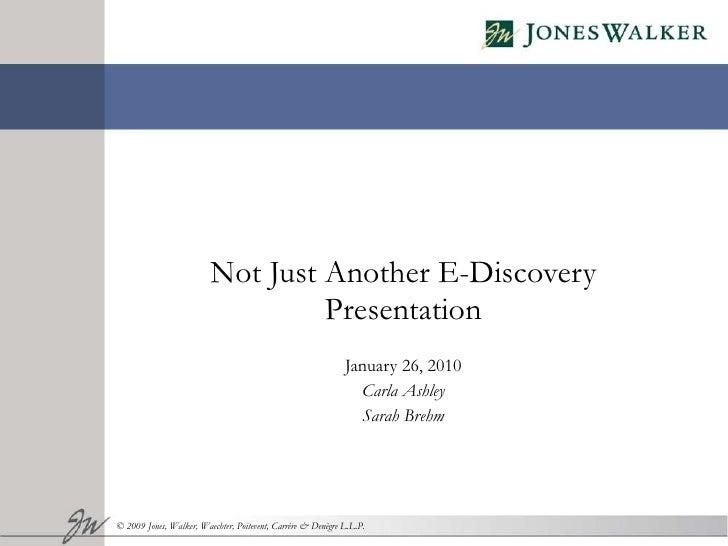 EDiscovery Presentation