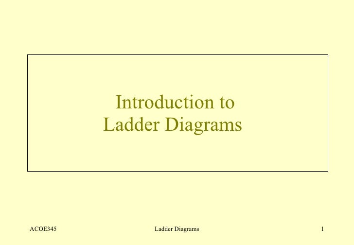Introduction to  Ladder Diagrams  ACOE345 Ladder Diagrams