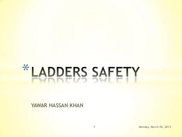 *    YAWAR HASSAN KHAN                        1   Monday, March 04, 2013