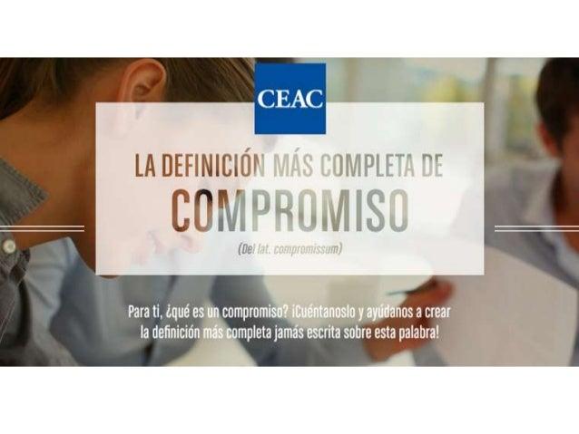 Concurso CEAC Facebook: La definición más completa de compromiso