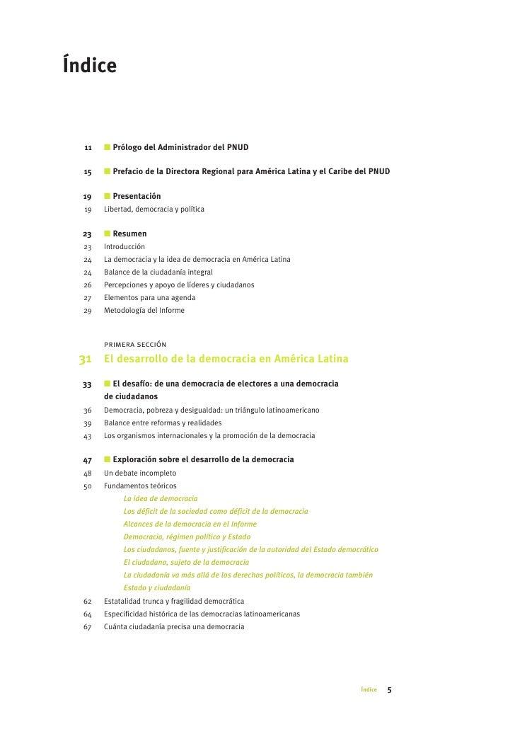 Índice     11   I Prólogo del Administrador del PNUD    15   I Prefacio de la Directora Regional para América Latina y el ...
