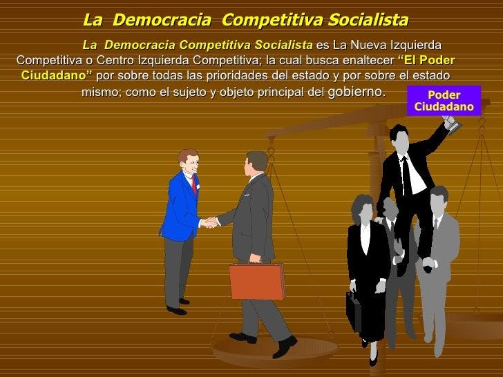 La  Democracia Competitiva Socialista  es La Nueva Izquierda Competitiva o Centro Izquierda Competitiva; la cual busca e...