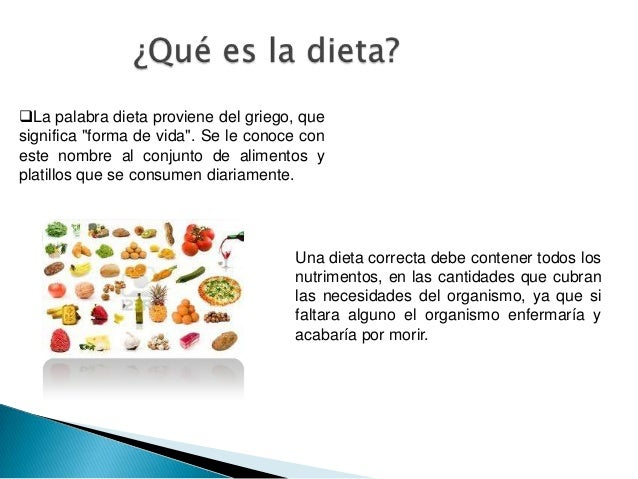 la dieta correcta y su importancia para la