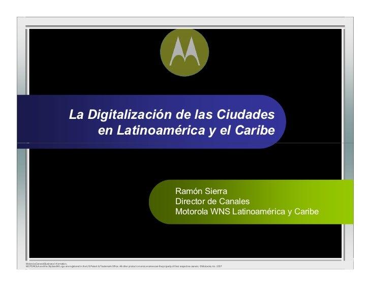La Digitalización de las Ciudades                                             en Latinoamérica y el Caribe                ...