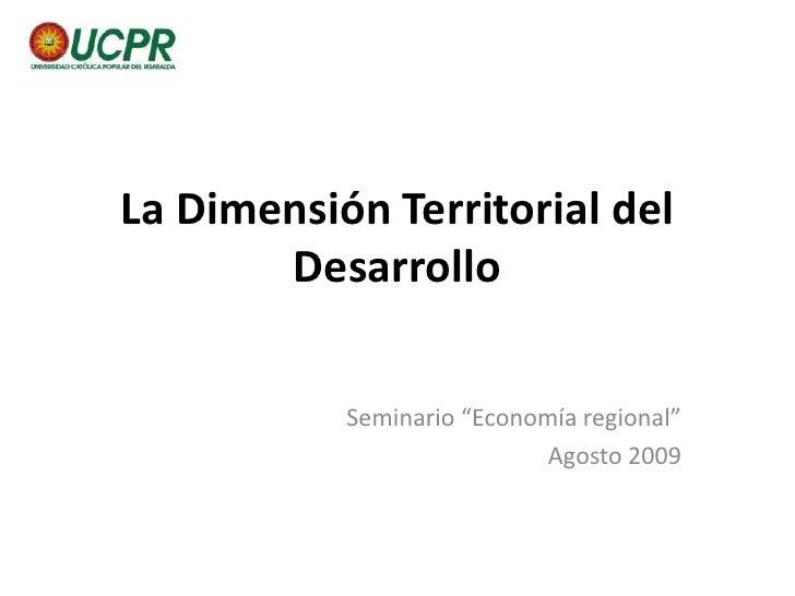 PRESENTACIÓN <br />ECONOMÍA REGIONAL<br />
