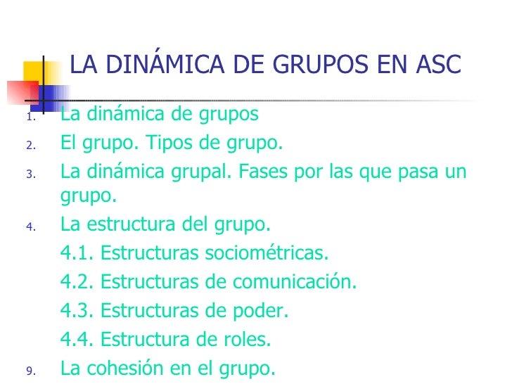La dinámica de grupos