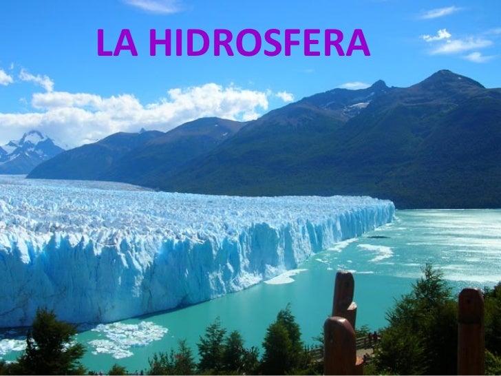 La Dinmica De La Hidrosfera