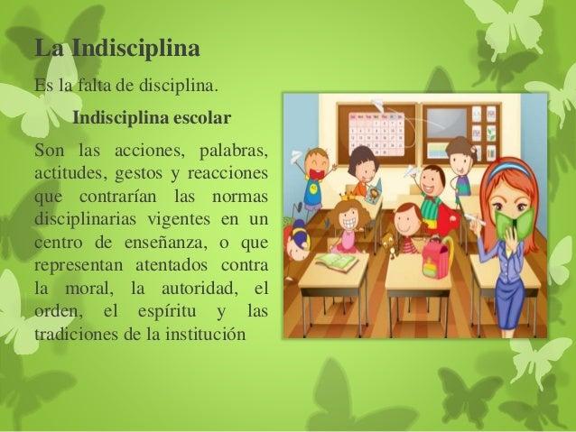 La disciplina y la indisciplina escolar for Cuales son las caracteristicas de un mural