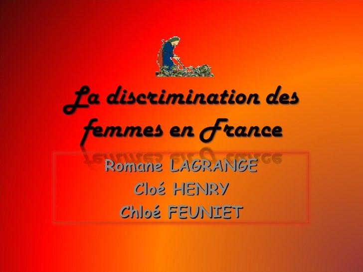 Romane LAGRANGE Cloé HENRY Chloé FEUNIET