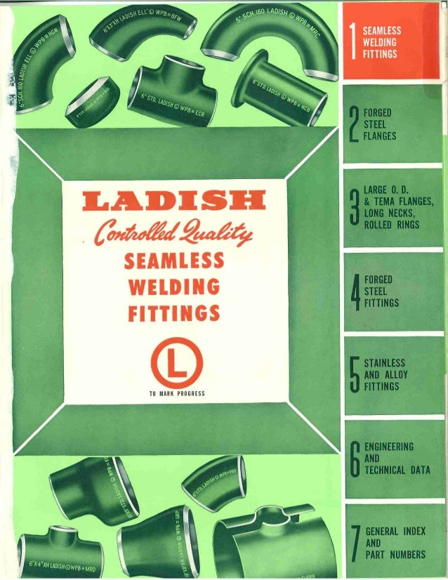 Ladish seamless weld fittings