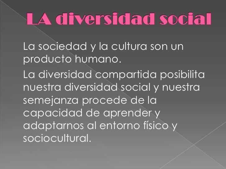 La diversidad social