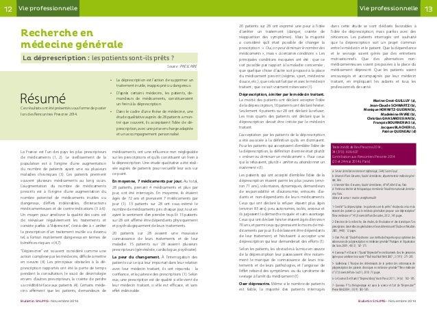12 13Vie professionnelle Vie professionnelle Bulletin SNJMG • Novembre 2014 Bulletin SNJMG • Novembre 2014 Recherche en mé...