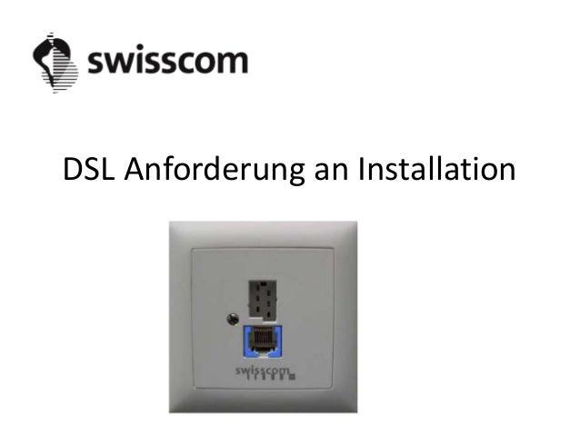 DSL Anforderung an Installation