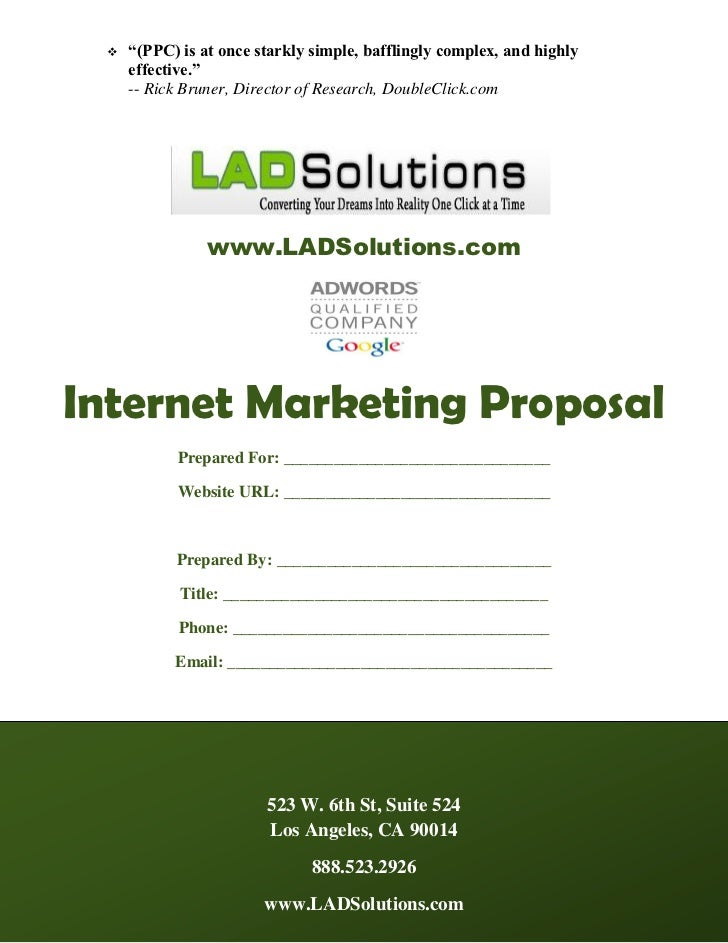 LAD Solutions PPC Management Proposal