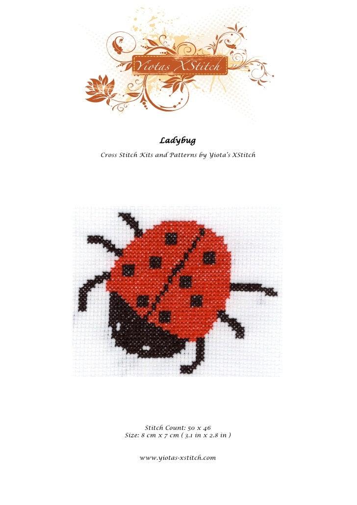 Ladybug - Free cross stitch pattern