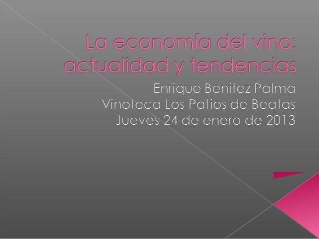 La economía del vino