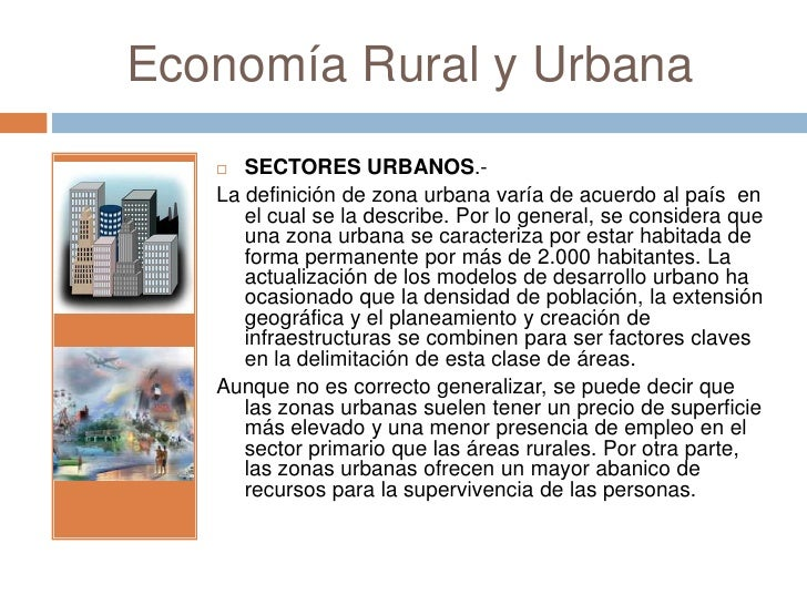 la Definición de Zona Urbana