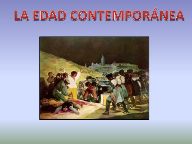 La edad contemporanea for Imagenes de epoca contemporanea