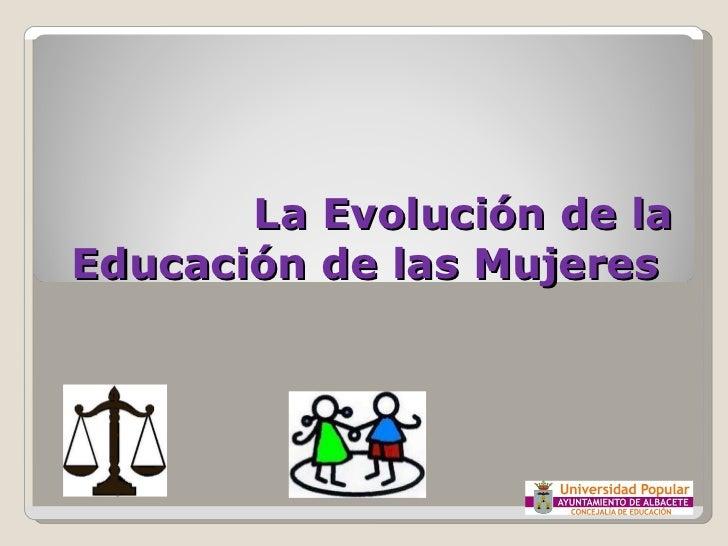 La Evolución de la Educación de las Mujeres