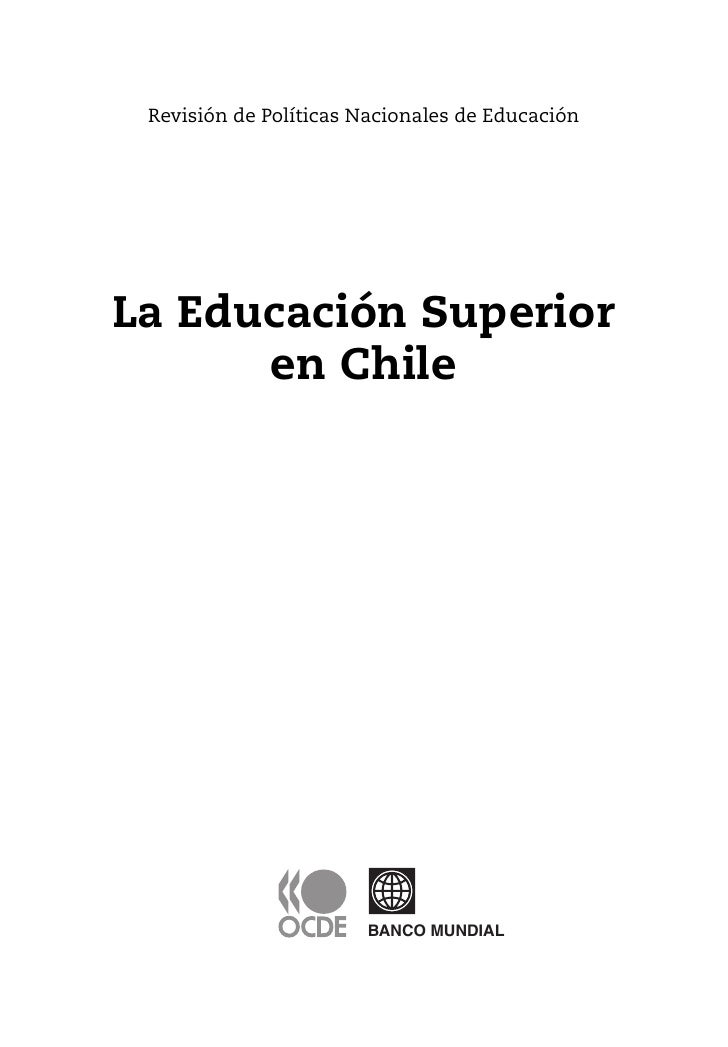 La Educacin Superioren Chile Final Manuscript