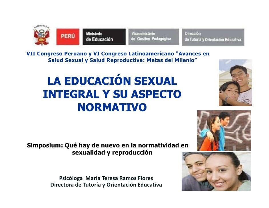 """VII Congreso Peruano y VI Congreso Latinoamericano """"Avances en       Salud Sexual y Salud Reproductiva: Metas del Milenio""""..."""