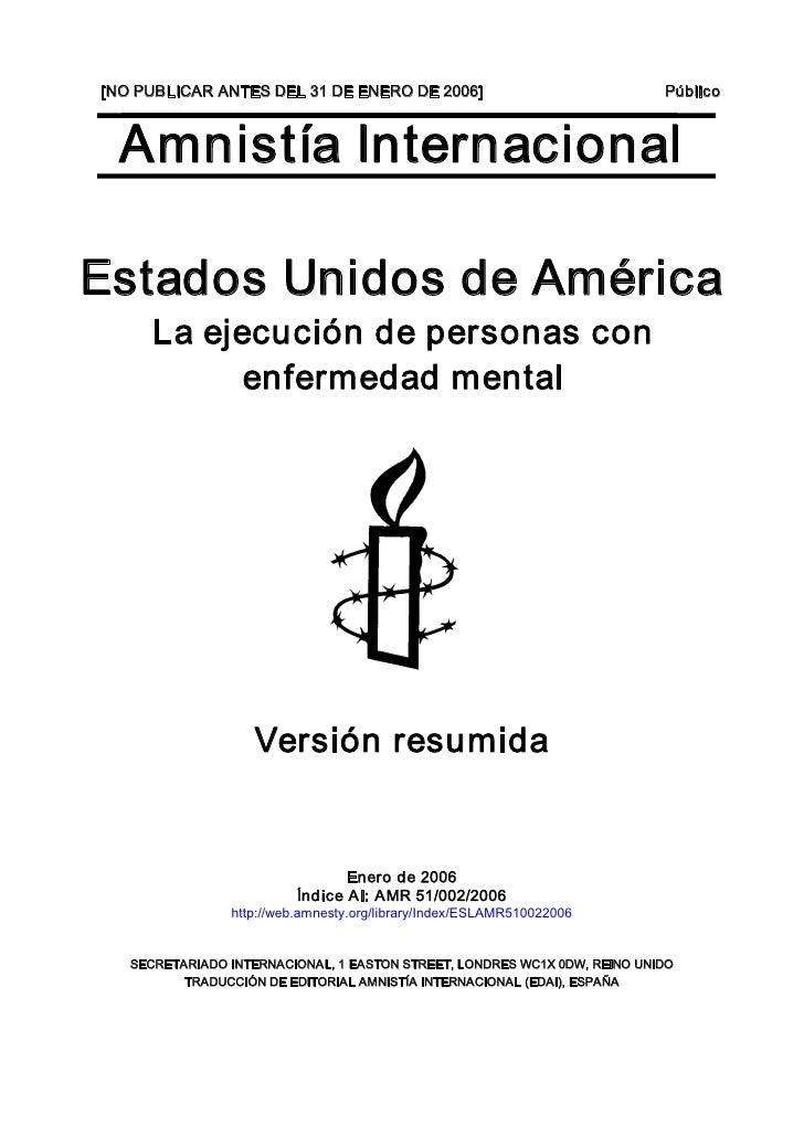 [NOPUBLICARANTESDEL31DEENERODE2006]                                Público      AmnistíaInternacional  Estados...