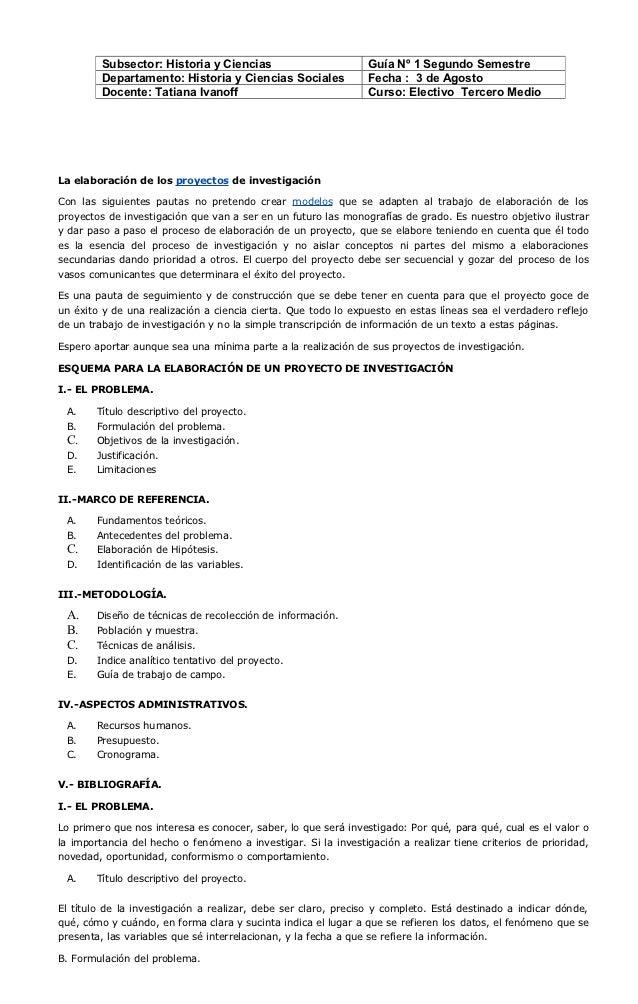 Subsector: Historia y Ciencias                         Guía Nº 1 Segundo Semestre         Departamento: Historia y Ciencia...