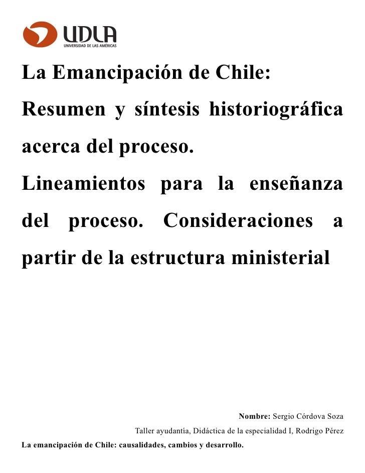 La emancipacion, sintesis historiografica