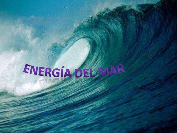 Energía del mar<br />