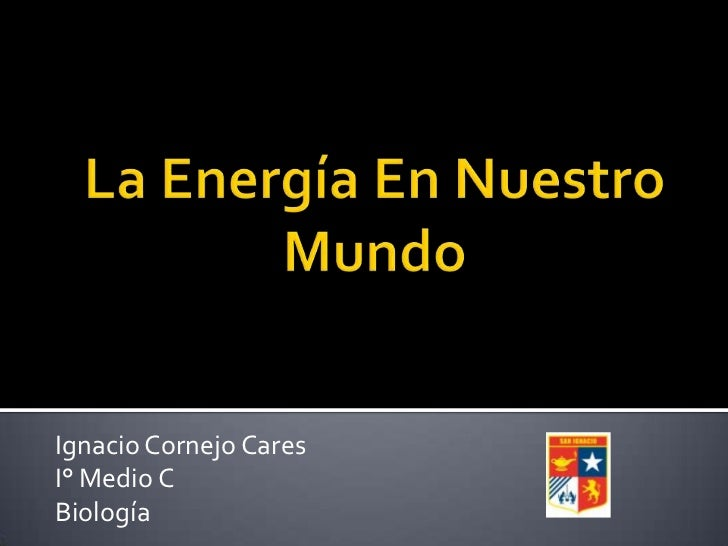 Ignacio Cornejo CaresI° Medio CBiología