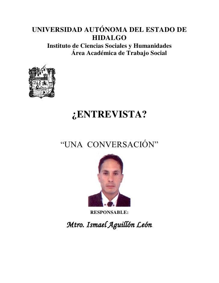 UNIVERSIDAD AUTÓNOMA DEL ESTADO DE              HIDALGO   Instituto de Ciencias Sociales y Humanidades            Área Aca...