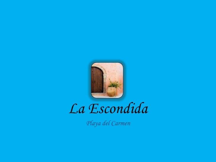 Playa del Carmen, Mexico Real Estate La Escondida Brochure Vacation
