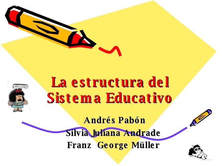 La estructura del Sistema Educativo Andrés Pabón Silvia Juliana Andrade Franz  George Müller
