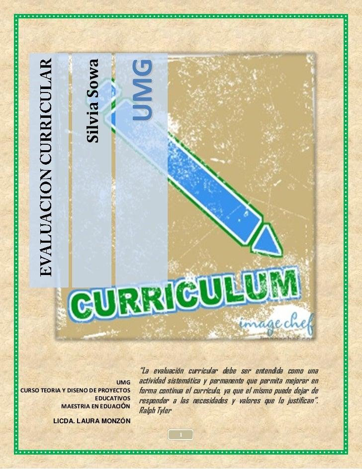 La evaluación curricular silvia sowa