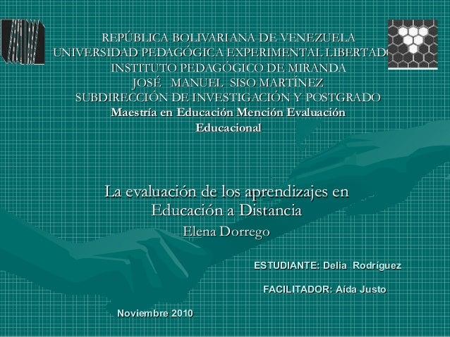 REPÚBLICA BOLIVARIANA DE VENEZUELAREPÚBLICA BOLIVARIANA DE VENEZUELA UNIVERSIDAD PEDAGÓGICA EXPERIMENTAL LIBERTADORUNIVERS...