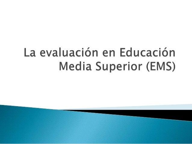 Se basa en:  Involucra a todos los subsistemas que imparten educación media superior  Construcción de un marco curricula...