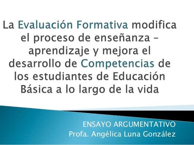 La evaluación formativa modifica el proceso de enseñanza ppt