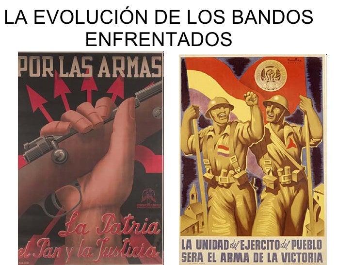 LA EVOLUCIÓN DE LOS BANDOS ENFRENTADOS
