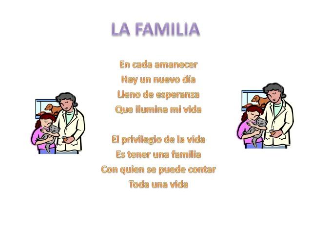 Poesias de la familia para niños - Imagui