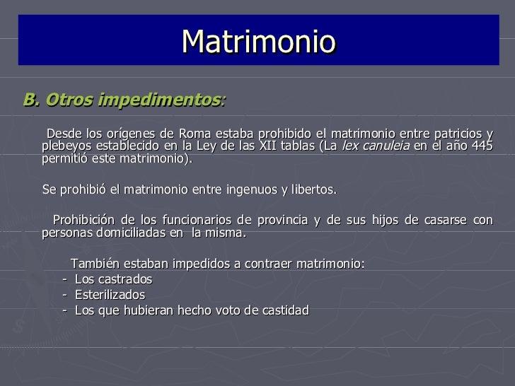 Derecho Romano Matrimonio Sine Connubio : La familia en el derecho romano