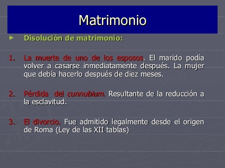 Formula Matrimonio Romano : La familia en el derecho romano