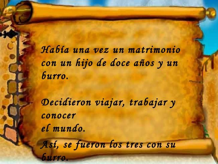 La Familia Y El Burro.Mensaje