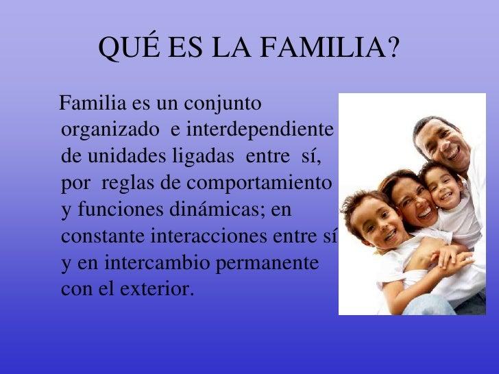 La familia y valores for Educar en el exterior
