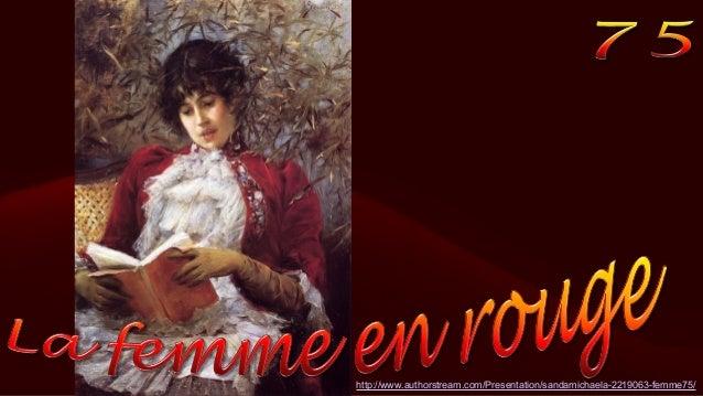 La femme en rouge75