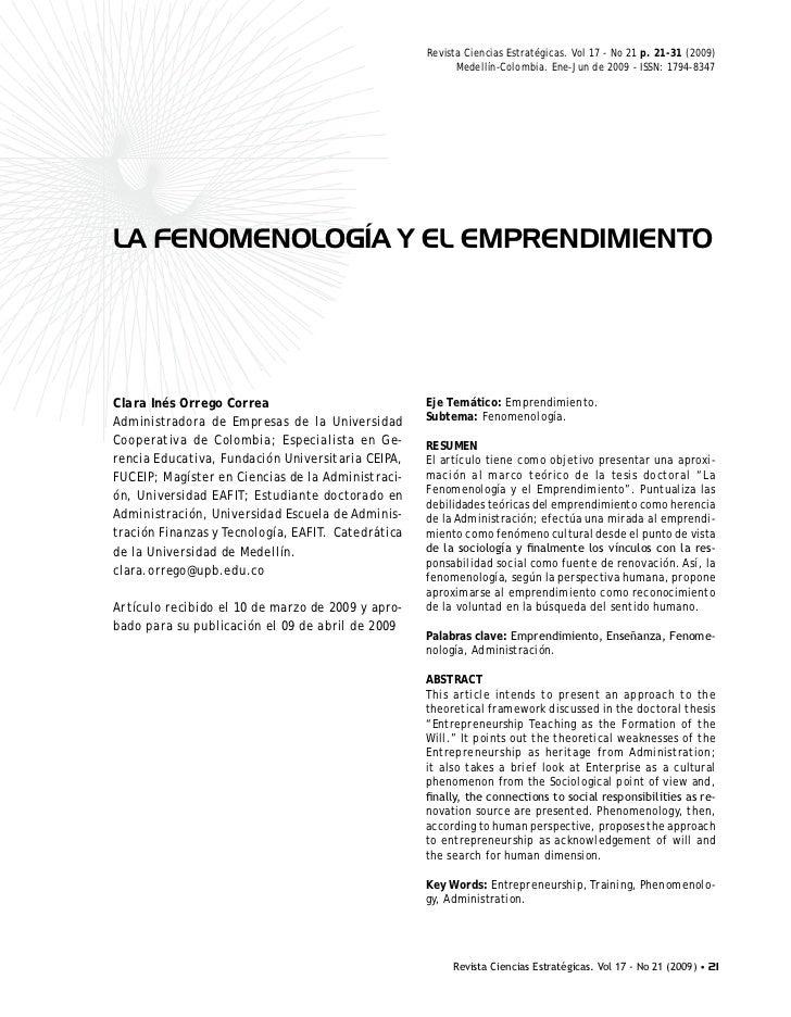 Revista Ciencias Estratégicas. Vol 17 - No 21 p. 21-31 (2009)                                                          Med...