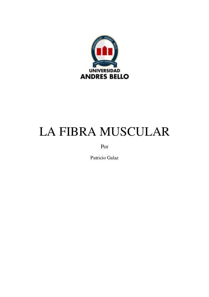 LA FIBRA MUSCULAR            Por       Patricio Galaz